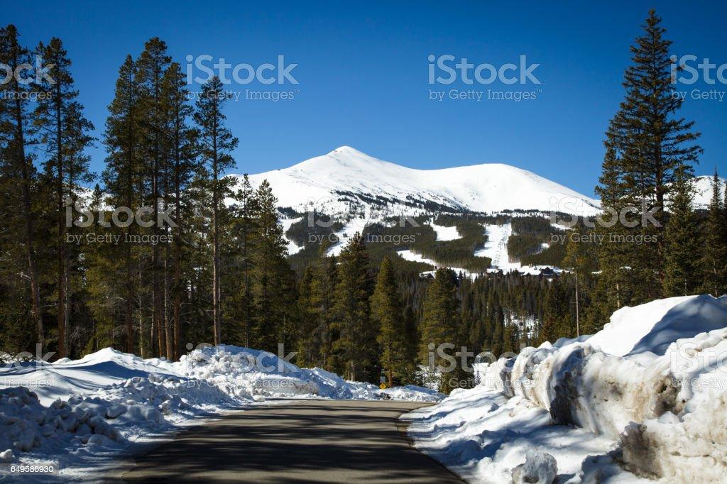 Mountains in Breckenridge stock photo