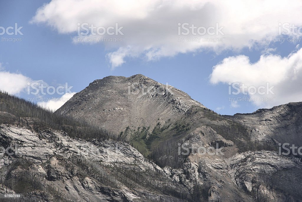 Mountains in Canada royalty-free stock photo