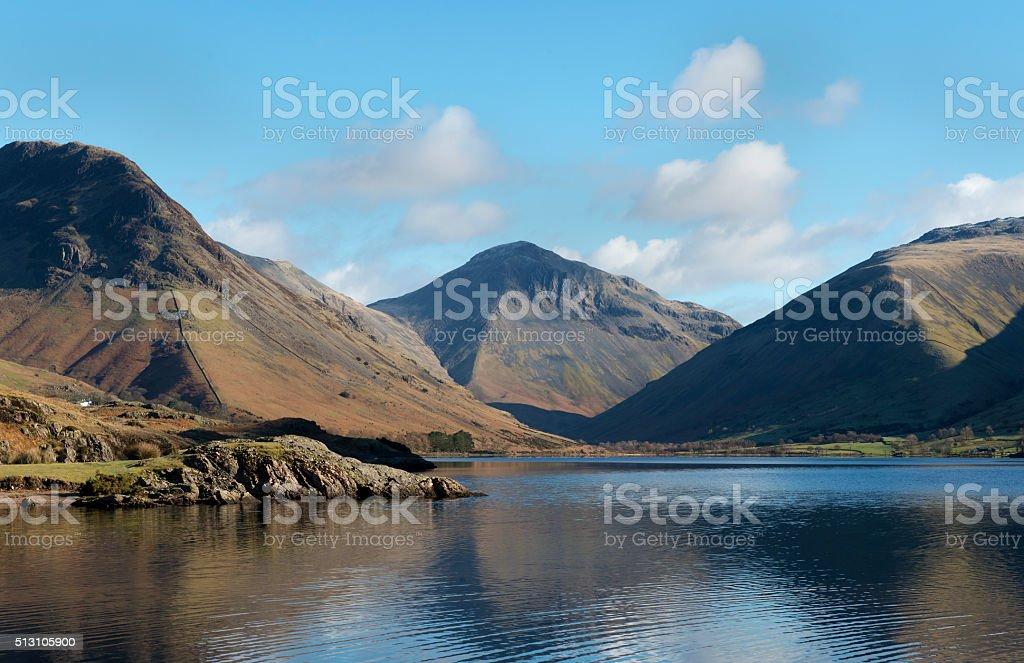 Mountains in English Lake District stock photo