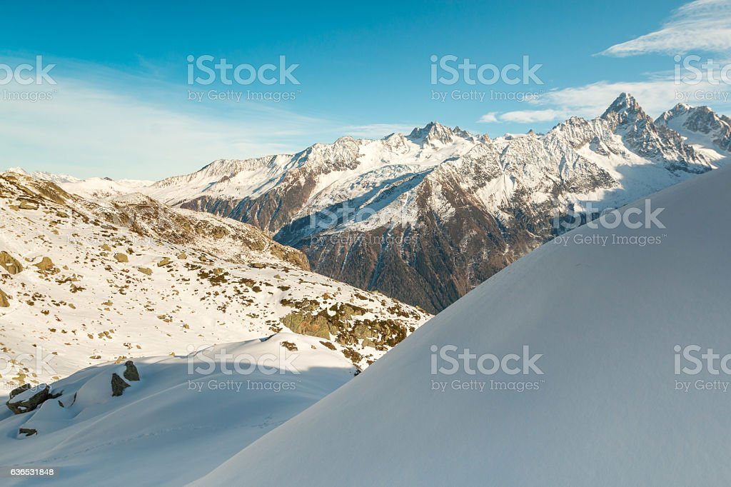 Mountains in French Alps stock photo