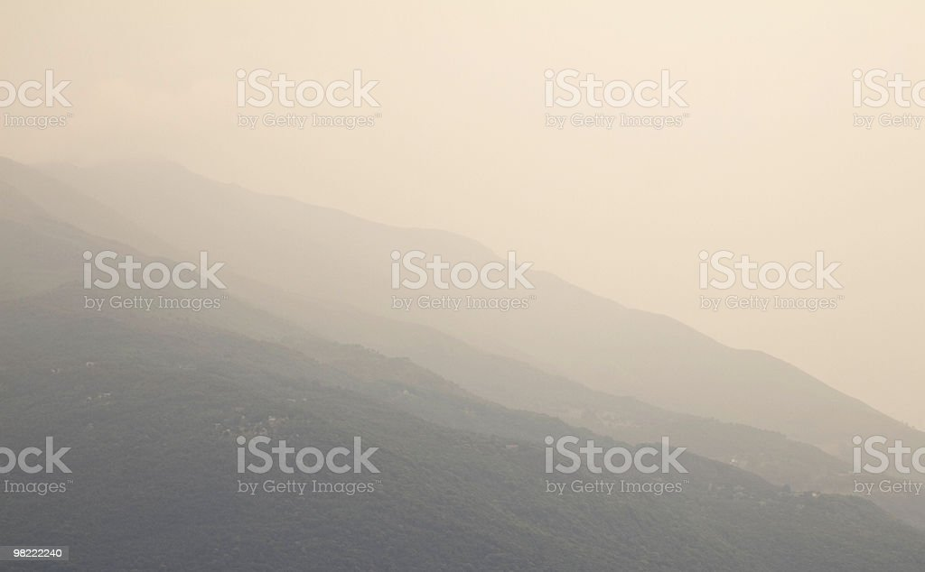 Mountains in Haze royalty-free stock photo