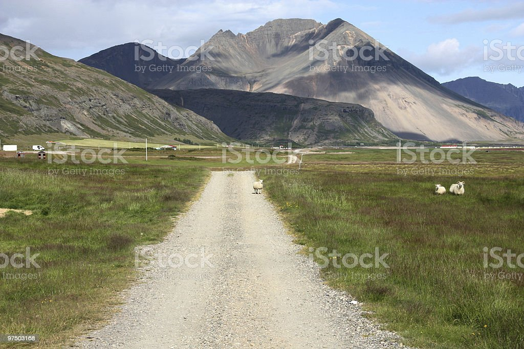 Mountains in Iceland royalty-free stock photo