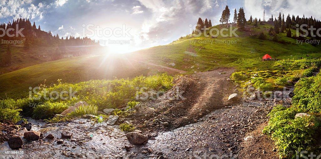 Mountains in Kazakhstan stock photo