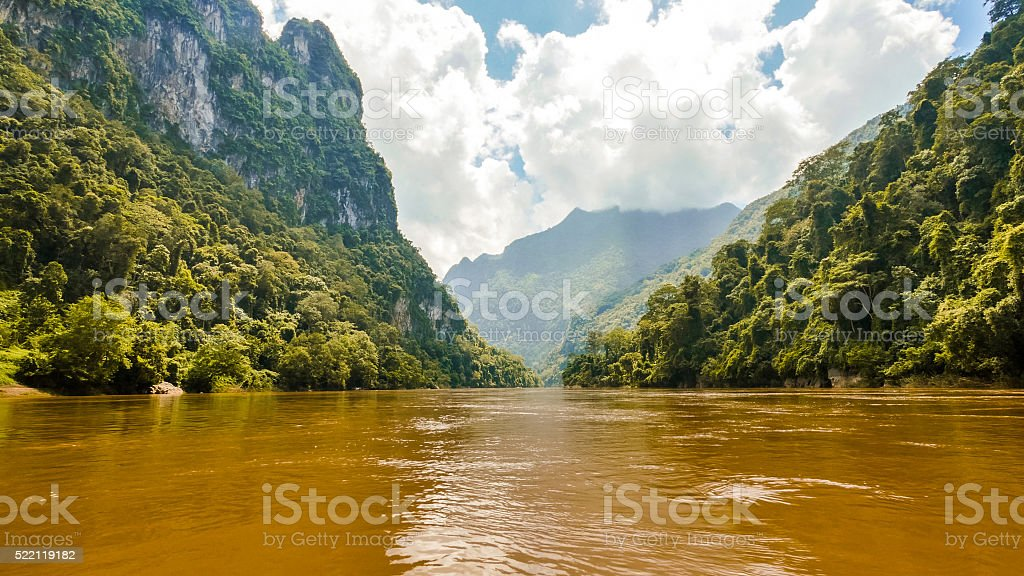 Mountains in Luang Prabang, Laos stock photo