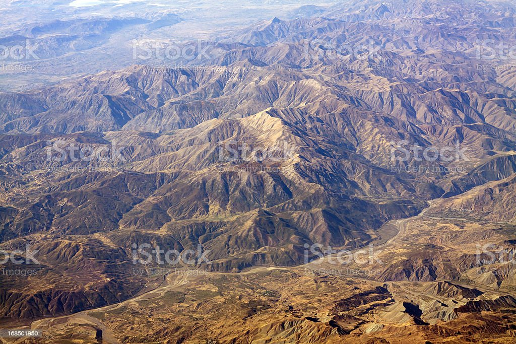 Mountains in Northern Afghanistan stock photo