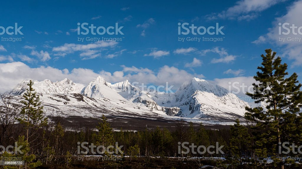 mountains in Norway stock photo
