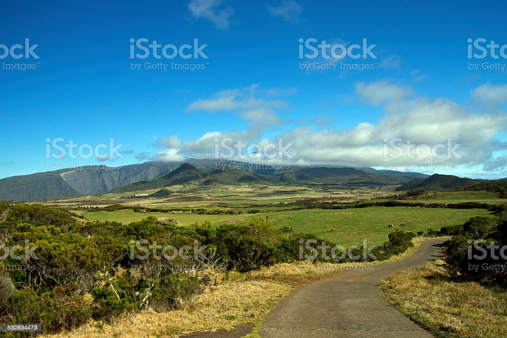 Mountains in Reunion stock photo