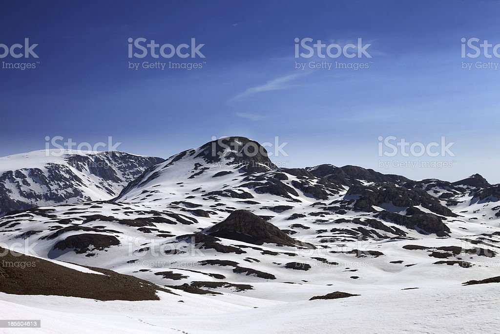 Mountains in snow royalty-free stock photo