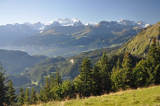 Gebirge (Wetterhorn) in der Schweiz – Foto
