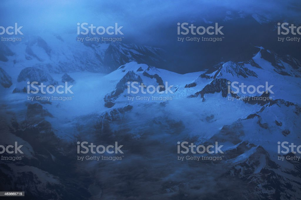 Mountains in the clouds royalty-free stock photo
