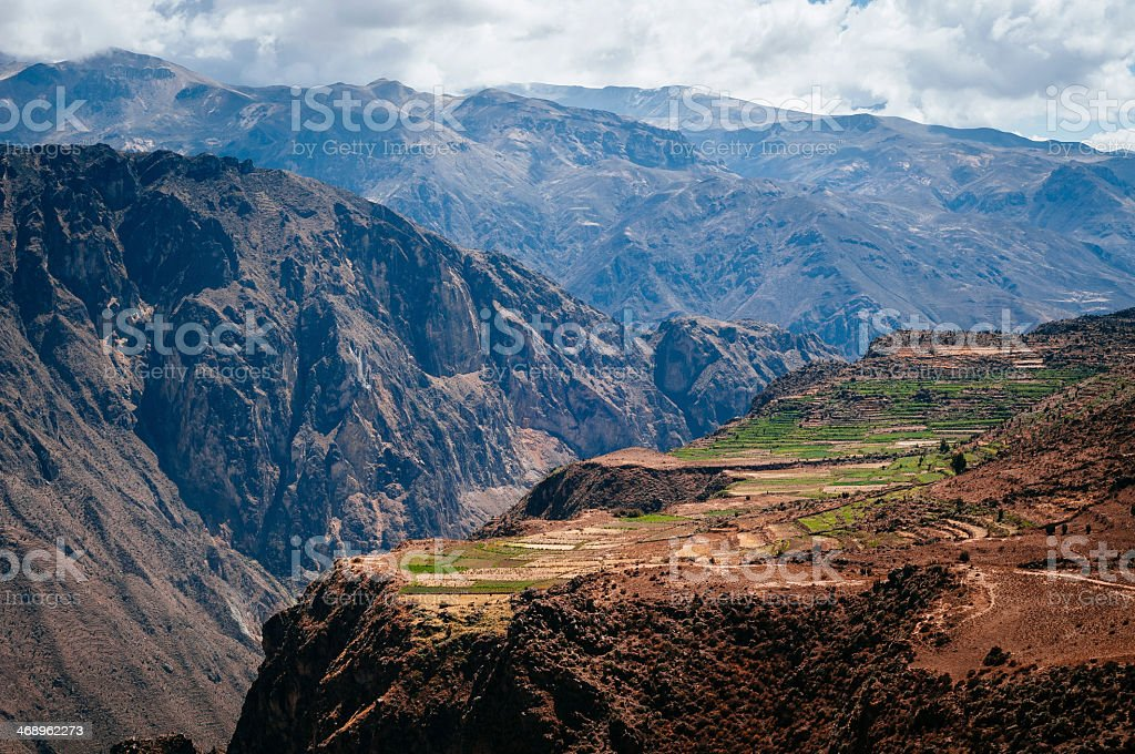 Mountains in the Colca Canyon stock photo