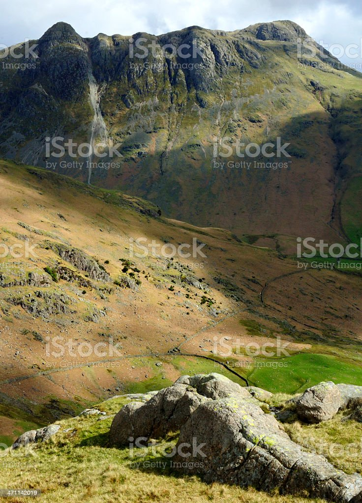 Mountains in the English Lake District royalty-free stock photo