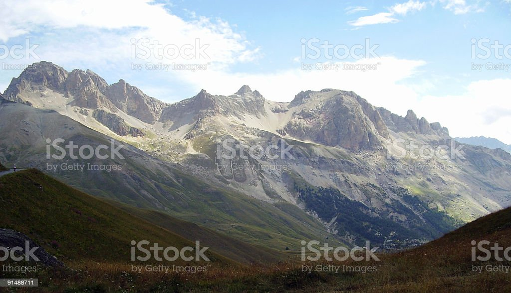 mountains in the French Alps royalty-free stock photo
