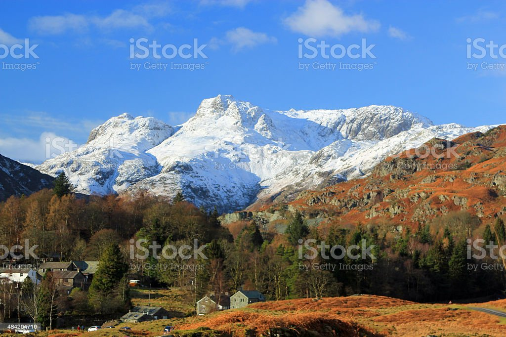 Mountains in the Lake District, Cumbria, UK stock photo
