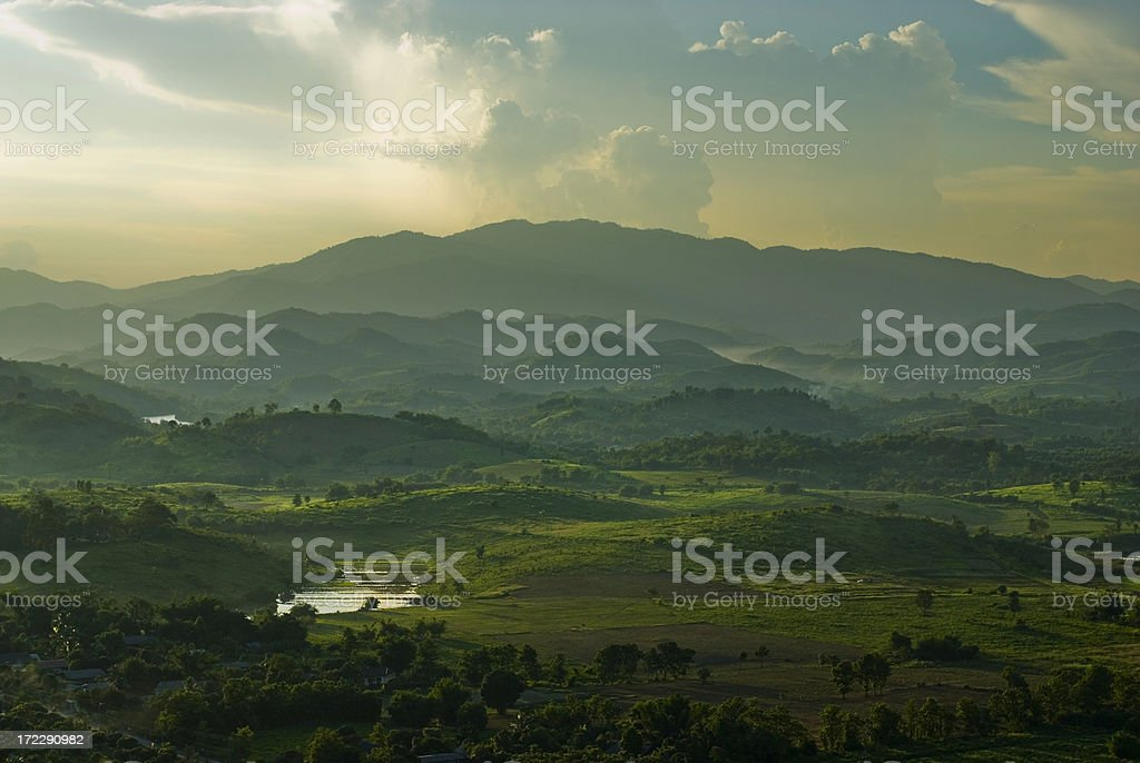 Mountains in the North of Thailand royalty-free stock photo