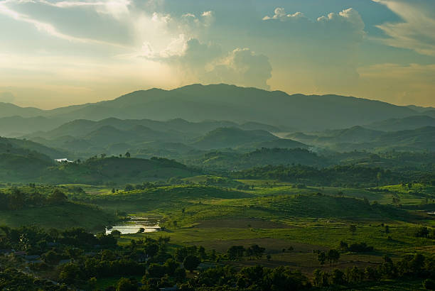 Mountains in the North of Thailand stock photo