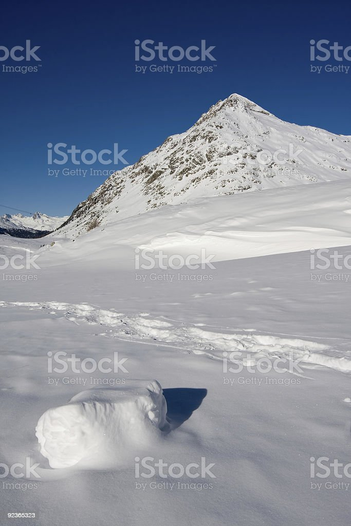 Mountains in the swiss alps royalty-free stock photo