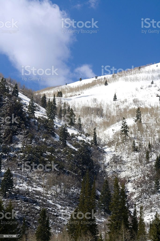 Mountains in Winter royalty-free stock photo