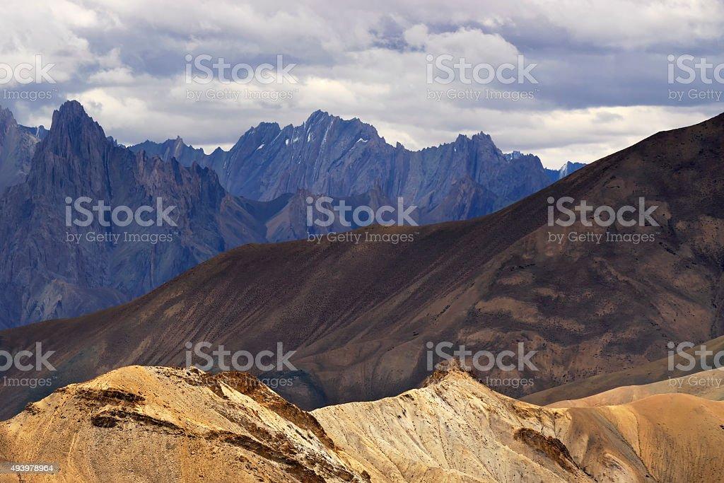 Mountains , ladakh landscape Leh, Jammu Kashmir, India. stock photo
