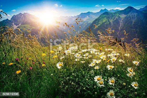 istock Mountains landscape in Vorarlberg 509619396