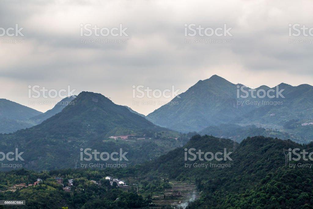 Paysage de montagnes photo libre de droits