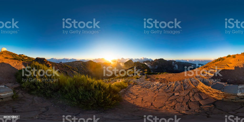 mountains landscape (360 degree panorama) stock photo