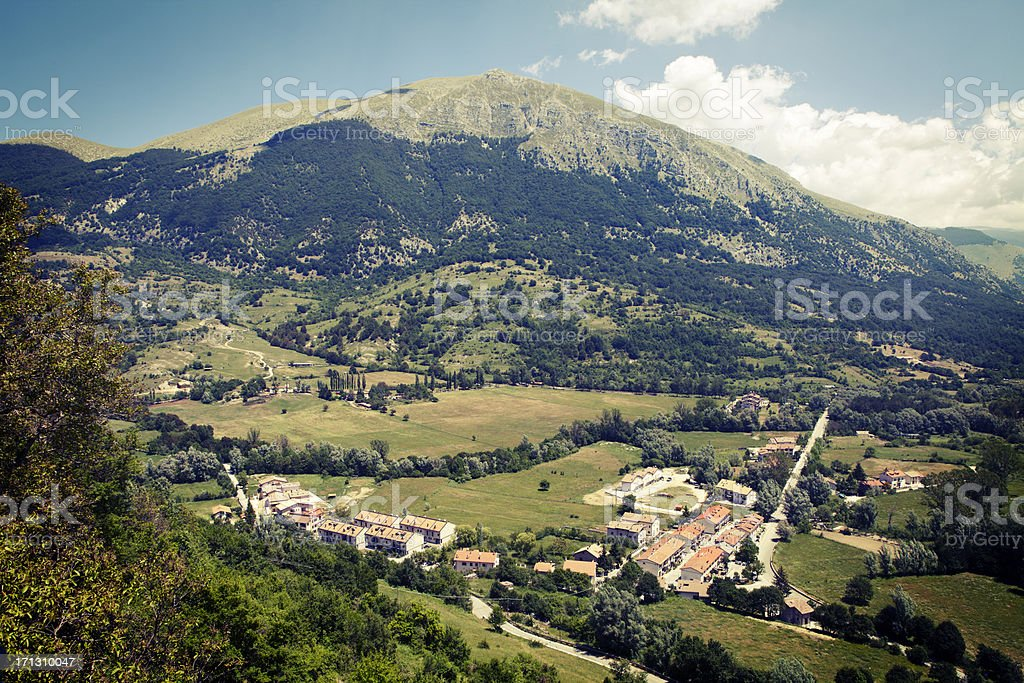 Mountains, National Park of Abruzzo royalty-free stock photo