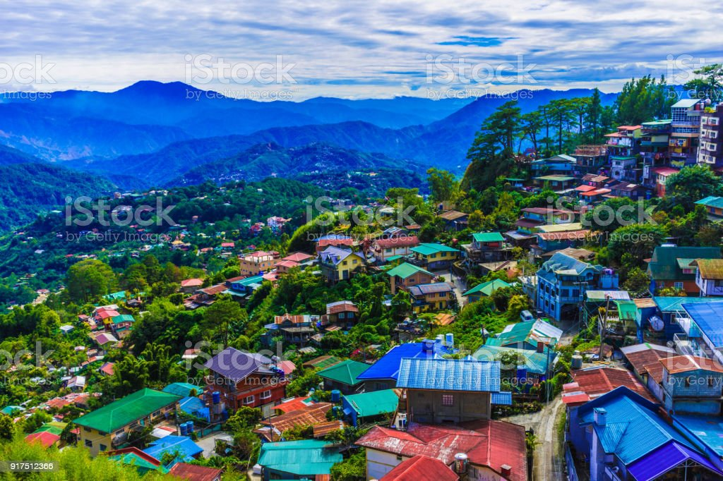 Mountains of Baguio City, Philippines stock photo