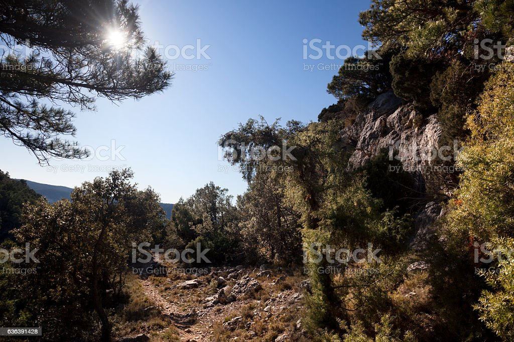 Mountains of Beceite stock photo
