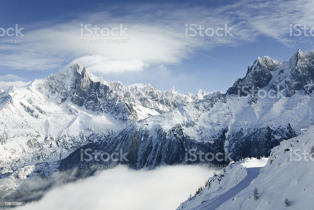 Mountains of Chamonix stock photo