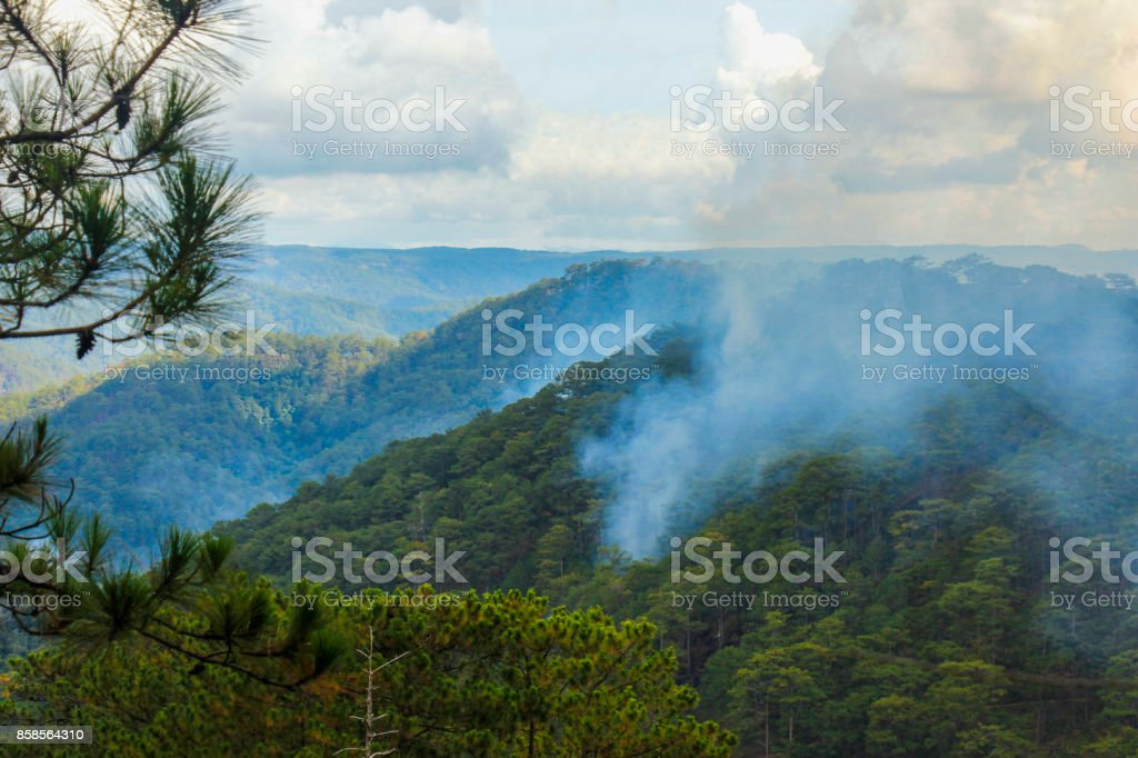 Mountains of Dalat, Vietnam stock photo