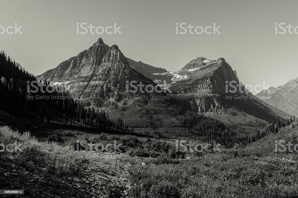 Mountains of Glacier National Park.  Montana, USA stock photo