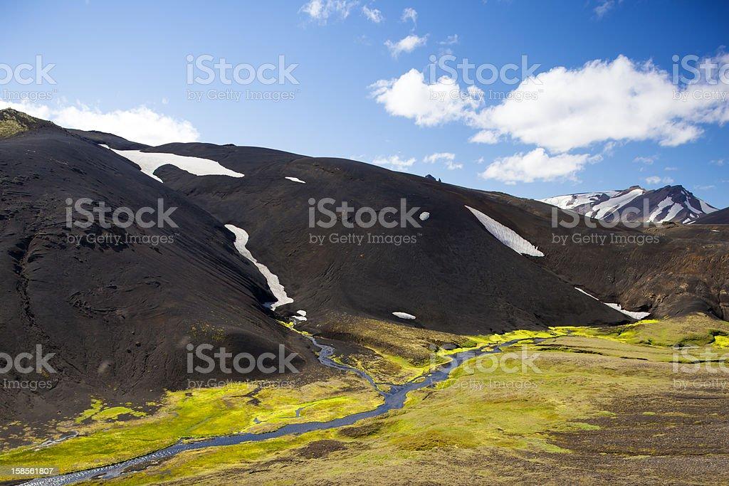 Mountains of  Iceland stock photo