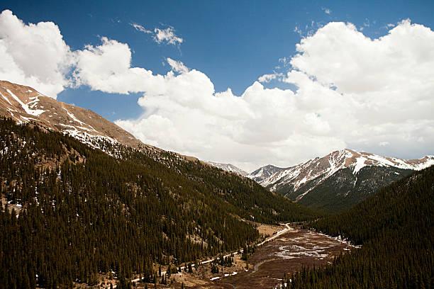 mountains of independence pass, colorado, usa - independence day stok fotoğraflar ve resimler