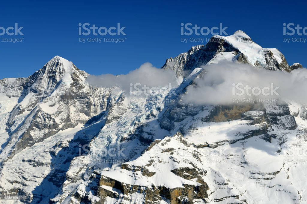 Mountains of Interlaken stock photo