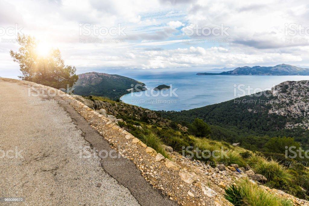 Mountains of Majorca. Background Port de Pollenca zbiór zdjęć royalty-free
