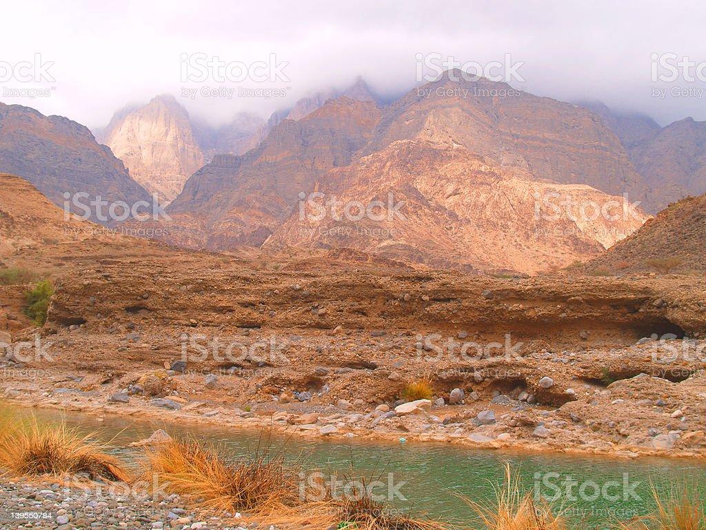 Mountains of Oman 3 royalty-free stock photo