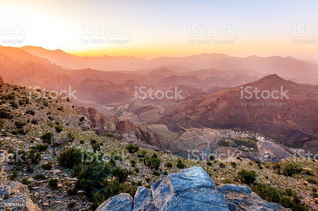 Mountains of Oman stock photo
