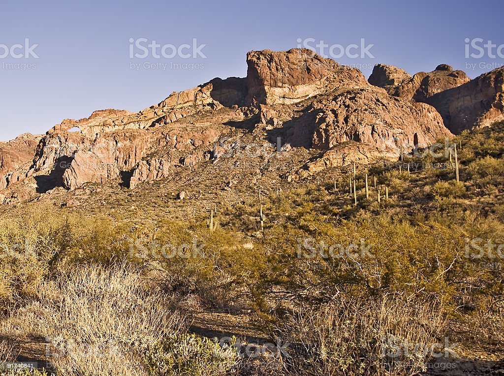 Mountains of Organ Pipe National Monument royalty-free stock photo