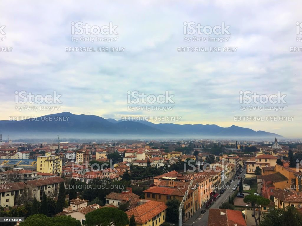Mountains of Pisa - Royalty-free Aerial View Stock Photo
