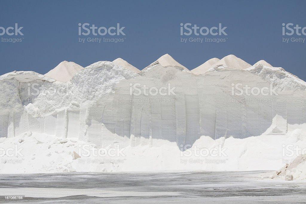 Mountains of Sea Salt stock photo