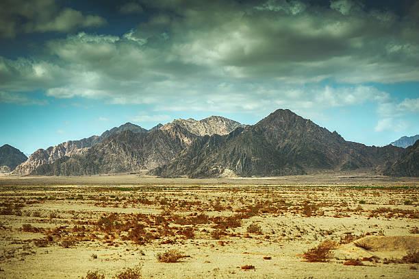 mountains of Sinai stock photo