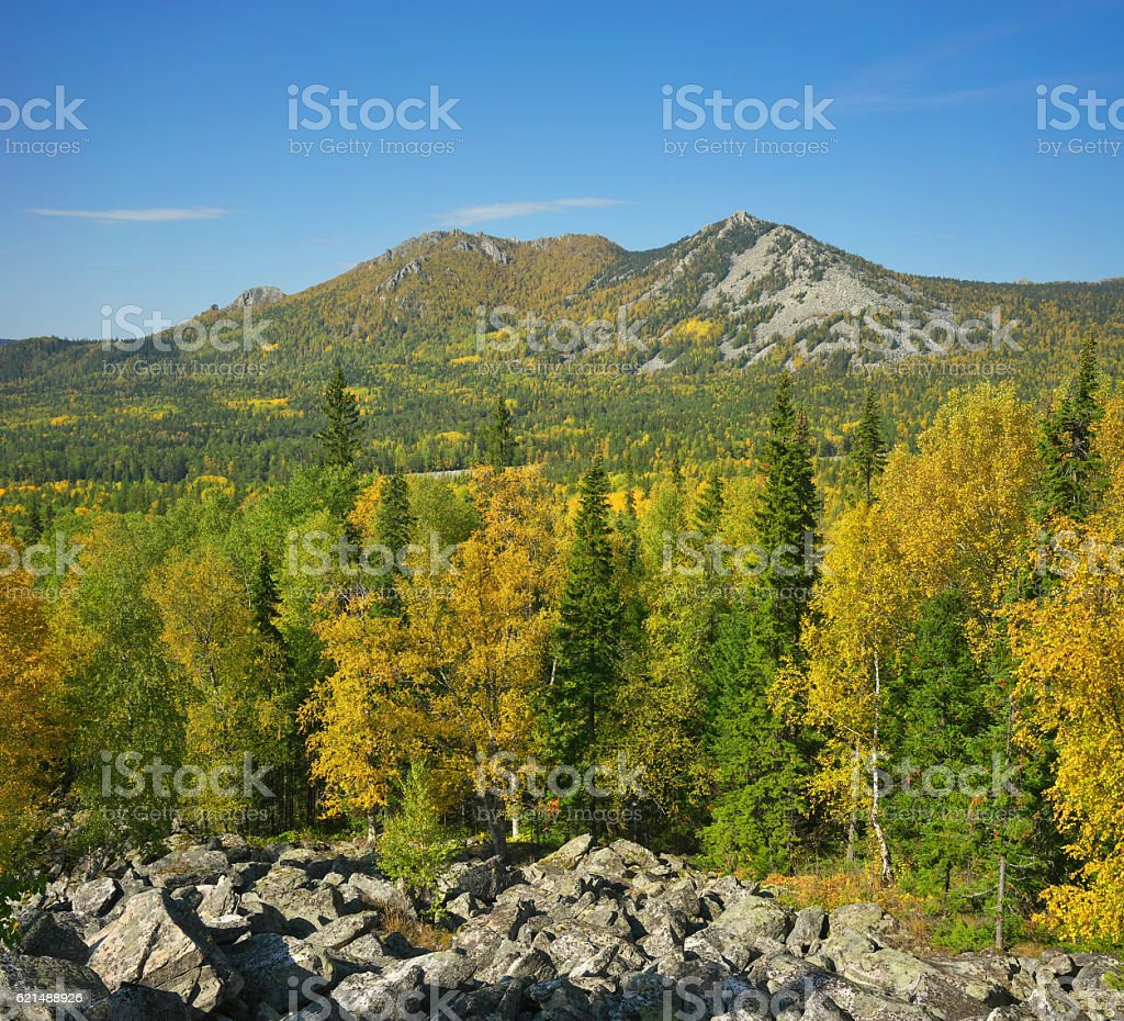 Mountains of Southern Ural foto stock royalty-free