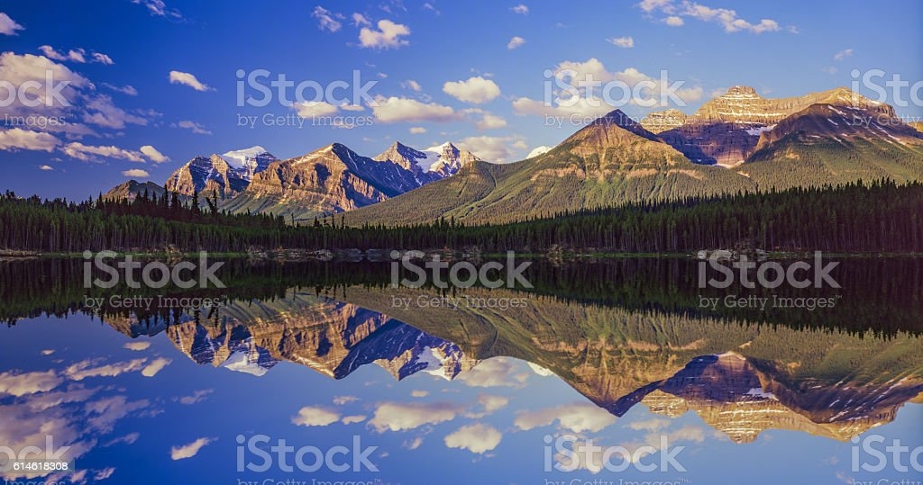 Mountains of the Canadian Rockies In Banff NP(11,000pxl) stock photo