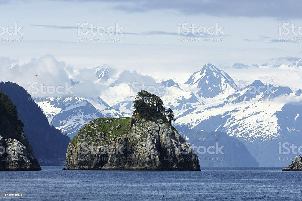 Mountains of the Kenai Fjords National Park stock photo