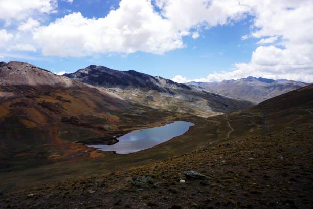 Montagnes de la région de La Paz , Bolivie stock photo