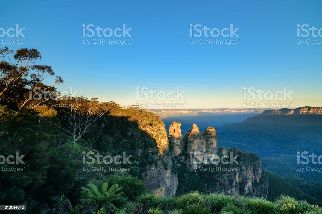Mountains of The Three Sisters, Australia stock photo