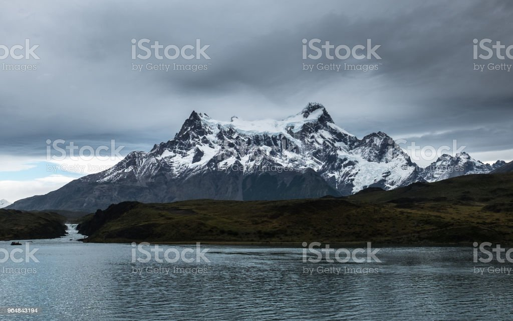 Mountains of Torres del Paine National Park royalty-free stock photo