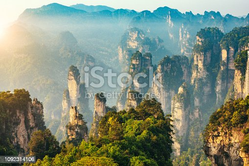 Mountains of Zhangjiajie National Forest Park, China