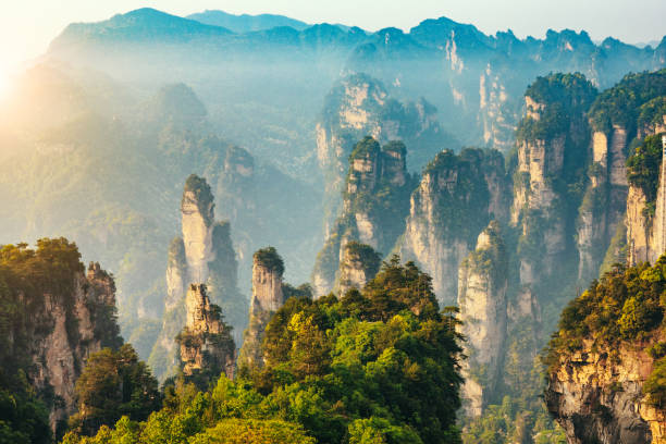 Berge von Zhangjiajie National Forest Park, China – Foto